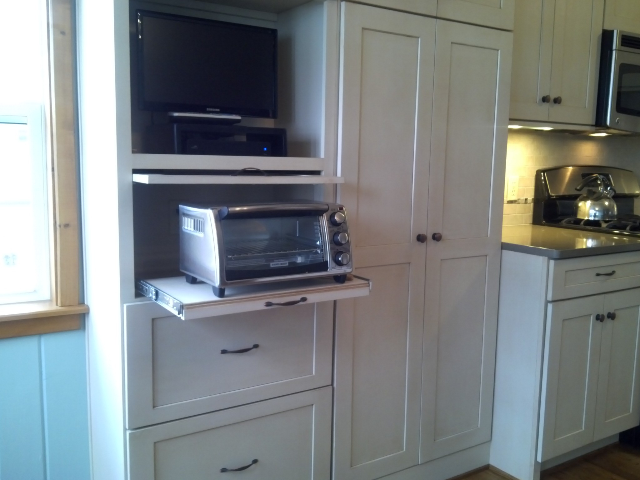 custom cabinets for all your appliances and technology